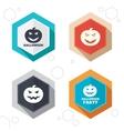 Halloween party icons Pumpkin symbol vector image vector image