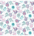 hand drawn flower pattern seamless texture vector image vector image