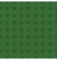 hearts and shamrocks pattern vector image vector image
