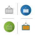 intermodal container icon vector image