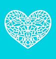 laser cut heart ornament cutout pattern vector image vector image