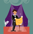 magician man vector image vector image