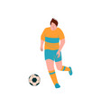 male soccer player playing soccer footballer vector image vector image