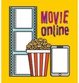 movie online vector image vector image