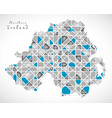 northern ireland map crystal style artwork vector image vector image