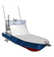 patrol boat on white background vector image