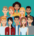 people group team community vector image vector image