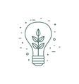 plant inside light bulb line art icon vector image vector image
