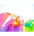 Rainbow colors abstract shining perspective vector image vector image