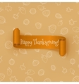 Realistic curved orange Thanksgiving Ribbon vector image