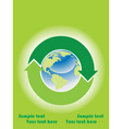 recycle icon background vector image vector image