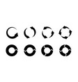 recycling icons black silhouette environmental vector image vector image