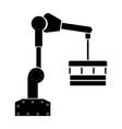 robotic hand manipulator black color icon vector image vector image