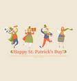 saint patricks day greeting banner vector image