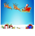 santa claus boarded a deer sledbackground scenery vector image vector image