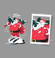 santa clause with fir-tree vector image vector image
