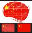 Scratched flag of China vector image