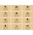 set business cards on theme food and drink vector image vector image