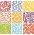 set nine cute elements seamless patterns vector image