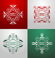 Set of Christmas Postcard Decorative Greetings vector image