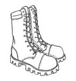 sketch - high leather army boots