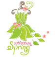 spring fashion collection vector image vector image