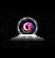 stargate time machine portal spatial entrance vector image