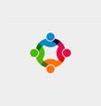 teamwork social network logo graphic vector image vector image