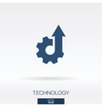 Technology concept icon logo vector image