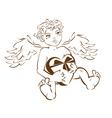 Valentines angel Cupid vector image vector image