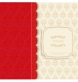Vintage background red greeting card vector image