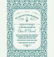 vintage wedding invitation save date vector image vector image