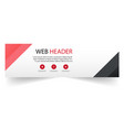 web header abstract red black triangle background vector image vector image