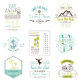 Wedding Vintage Card Invitation Collection vector image vector image