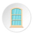 white narrow window icon circle vector image vector image