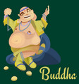 isolated indian gods buddha meditation in yoga vector image