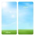 Banner spring grass in sun light vector image
