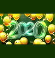 2020 helium balloons and confetti banner vector image vector image