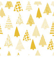 abstract christmas trees seamless pattern vector image vector image