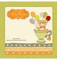 baby shower card with cute teddy bear vector image vector image