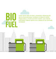 biofuel pump station gas barrels city environment vector image