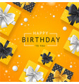 birthday concept banner card with realistic 3d vector image vector image