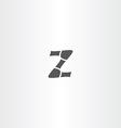 black icon z letter design vector image vector image