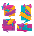 bright leaves banners vector image vector image