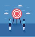 business women looking target vector image