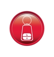 button key alarm system car vector image vector image