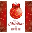 card ball merry christmas design isolated vector image vector image