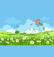 cartoon spring landscape vector image