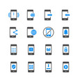 cell phone in glyph icon set vector image vector image