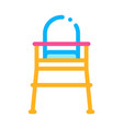 chair for feeding icon outline vector image vector image